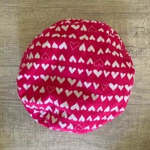 Other - Baby Girl Hearts Beret Hat - Pink + White, 3-6 mo.